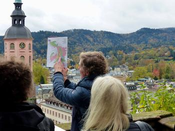Lisa Poetschki explains the geography of a spa town