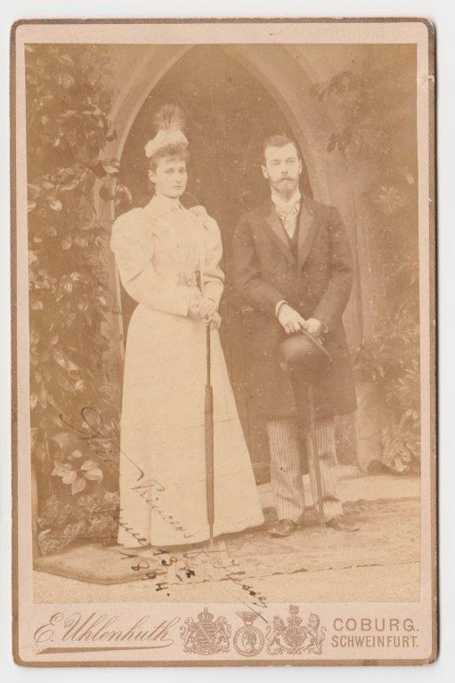 Princess Alix of Hesse – Russian Tsarina - with her Husband, Tsar Nicholas II